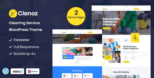 Download Clenoz – Cleaning Service WordPress Theme Free Nulled