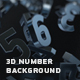 Abstract 3d Number Background - VideoHive Item for Sale