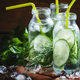 Refreshing cold drink of cucumber and herbs - PhotoDune Item for Sale
