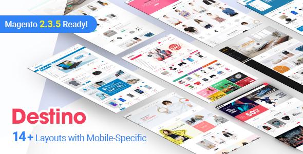 Destino - Premium Responsive Magento Theme with Mobile-Specific Layouts