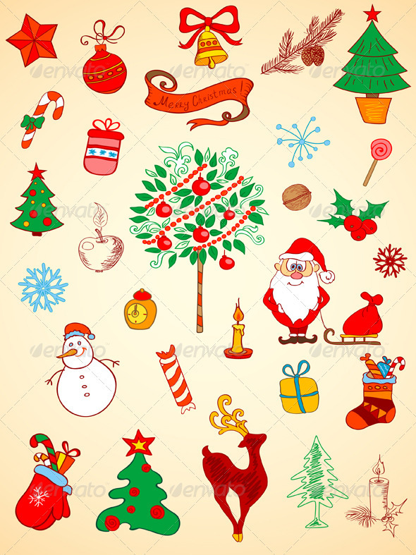 Christmas  Doodle Elements - Christmas Seasons/Holidays