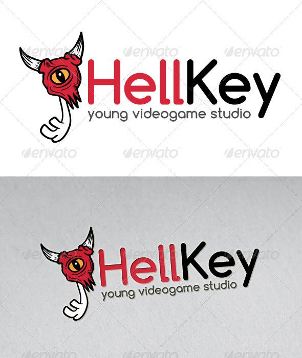 Hell Key Mascot Logo - Objects Logo Templates