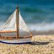 Miniature fishing boat at beach - PhotoDune Item for Sale