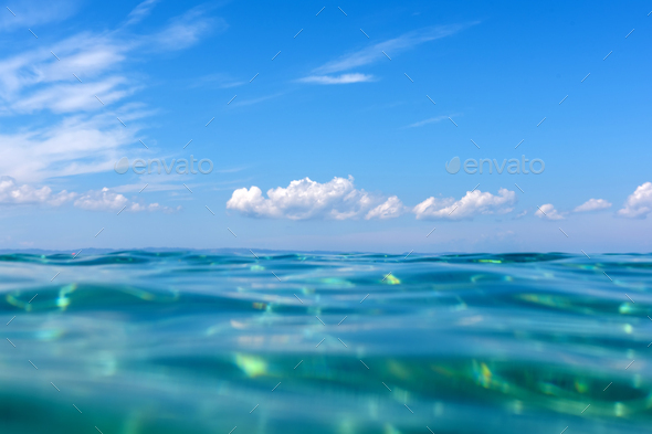 Summer time under the sea ocean water - Stock Photo - Images