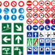 Vector Traffic Roads Signs Mega Pack - GraphicRiver Item for Sale