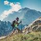 A girl practices trekking - PhotoDune Item for Sale