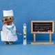 Flu prevention poster. Robotic medic holds antiviral drug container and blood test syringe. - PhotoDune Item for Sale