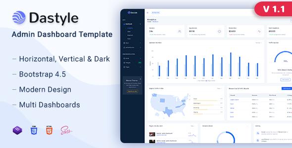 Dastyle – Admin & Dashboard Template