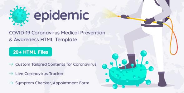 Epicmed - Coronavirus Medical Prevention & Awareness HTML Template