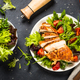 Grilled chicken with fresh salad at black - PhotoDune Item for Sale