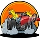 Vector Cartoon Dragster - GraphicRiver Item for Sale