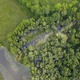 Morava river marshlands from top down view - PhotoDune Item for Sale