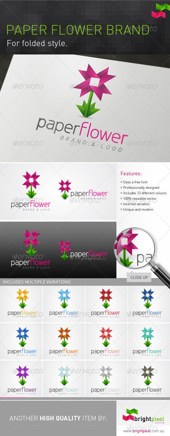 Paper Flower Brand - Nature Logo Templates