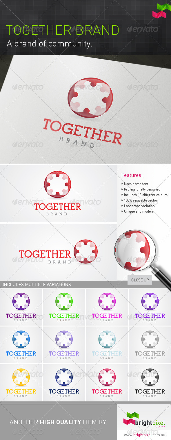 Together Brand - Symbols Logo Templates