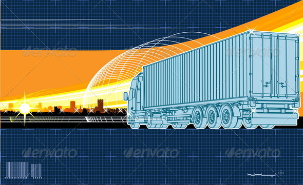 Vector Logistics Theme Background - Industries Business