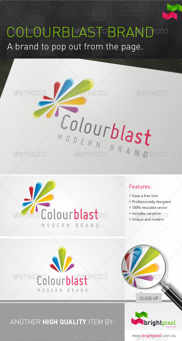 Colourblast Logo - Vector Abstract