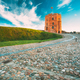 Vilnius, Lithuania. Cobblestone Road To Famous Tower Of Gediminas Or Gedimino In Historic Center - PhotoDune Item for Sale