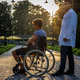 Young man in wheelchair. - PhotoDune Item for Sale