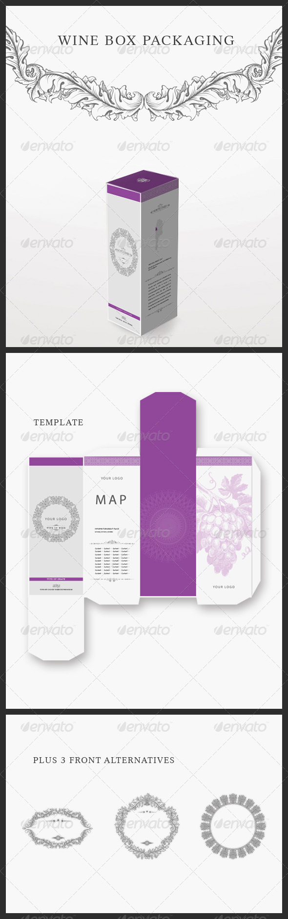 Modern Wine Packaging - Packaging Print Templates