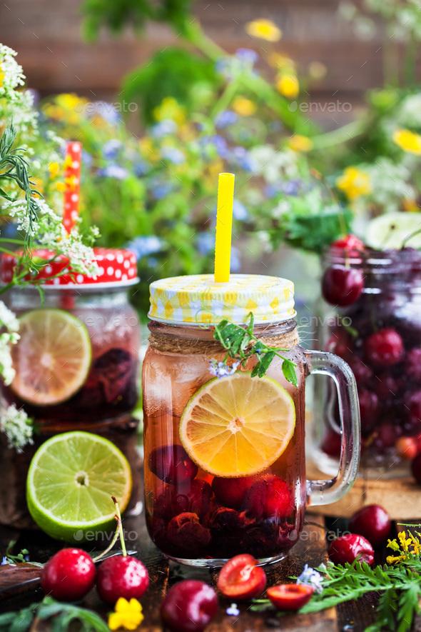Homemade cold lemonade - Stock Photo - Images