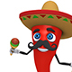 Chili Pepper With Sombrero Hat And Maracas (4-Pack) - VideoHive Item for Sale