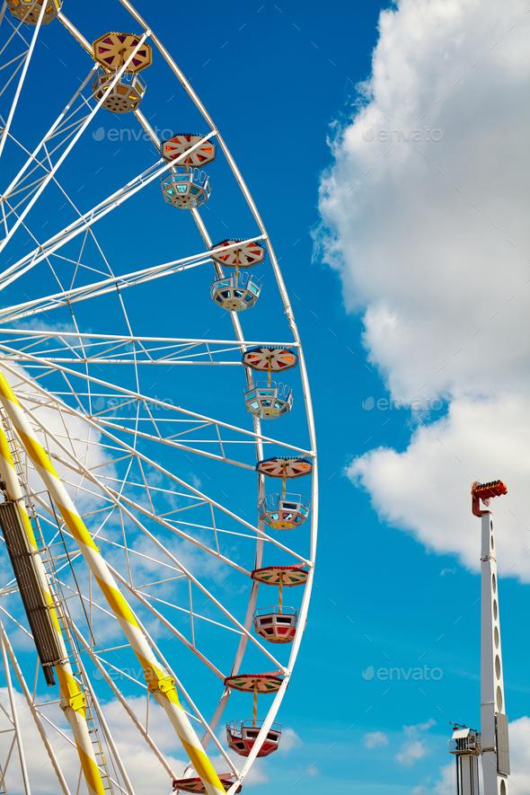 Ferris wheel, childhood memories. - Stock Photo - Images