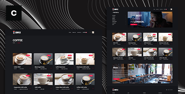 Download Cafex is a beautifully clean and contemporary Coffee Shop Theme script Free Nulled