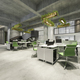 3d rendering business meeting and green working room on office building - PhotoDune Item for Sale