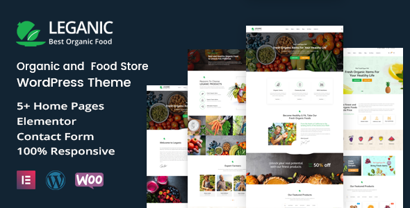 Download Leganic – Organic and Food Store WordPress Theme Free Nulled