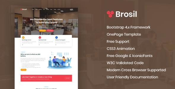 Brosil - Responsive Onepage HTML Template