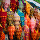 India. Market With Many Traditional Colorful Handmade Indian Fabric Lanterns. Popular Souvenirs From - PhotoDune Item for Sale