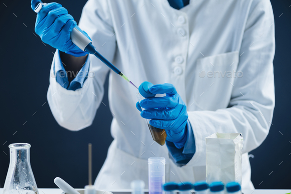 Food Safety Examination of Tea, Laboratory Inspection. - Stock Photo - Images