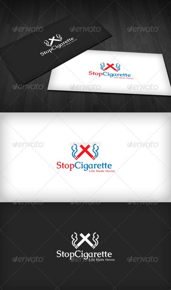 Stop Cigarette Logo - Vector Abstract
