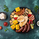 Grilled sausages, meat, and vegetables - PhotoDune Item for Sale