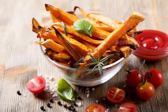 Sweet Potato Fries - Stock Photo - Images