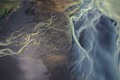 Aerial view of Glacier rivers in Iceland - PhotoDune Item for Sale