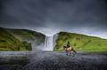 Skogafoss waterfall in Iceland in Summer. - PhotoDune Item for Sale