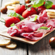 Appetizer with italian bresaola and tomato - PhotoDune Item for Sale