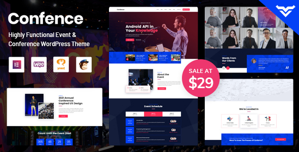 Download Confence – Event & Meetup WordPress Theme Free Nulled