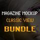 Magazine Mockup Classic View - Bundle - GraphicRiver Item for Sale