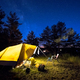 Family tent on camping ground under stars - PhotoDune Item for Sale