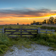 Wooden fence at sunset in Historic dutch landscape - PhotoDune Item for Sale