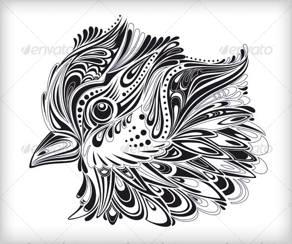 Abstract vector bird - Flourishes / Swirls Decorative