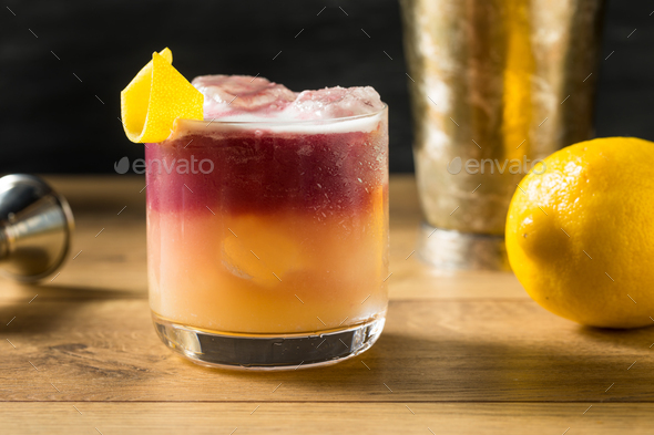 Homemade New York Sour Cocktail - Stock Photo - Images