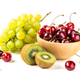 Grapes, cherry and kiwi in the bowls - PhotoDune Item for Sale