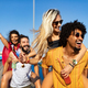 Group of friends having fun, traveling, smiling together outdoors - PhotoDune Item for Sale