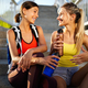Beautiful women working out in a city. Running, jogging, exercise, people, sport concept - PhotoDune Item for Sale