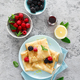 Thin crepes with fresh berries and lemon zest. Pancakes with raspberry and blackberry. - PhotoDune Item for Sale