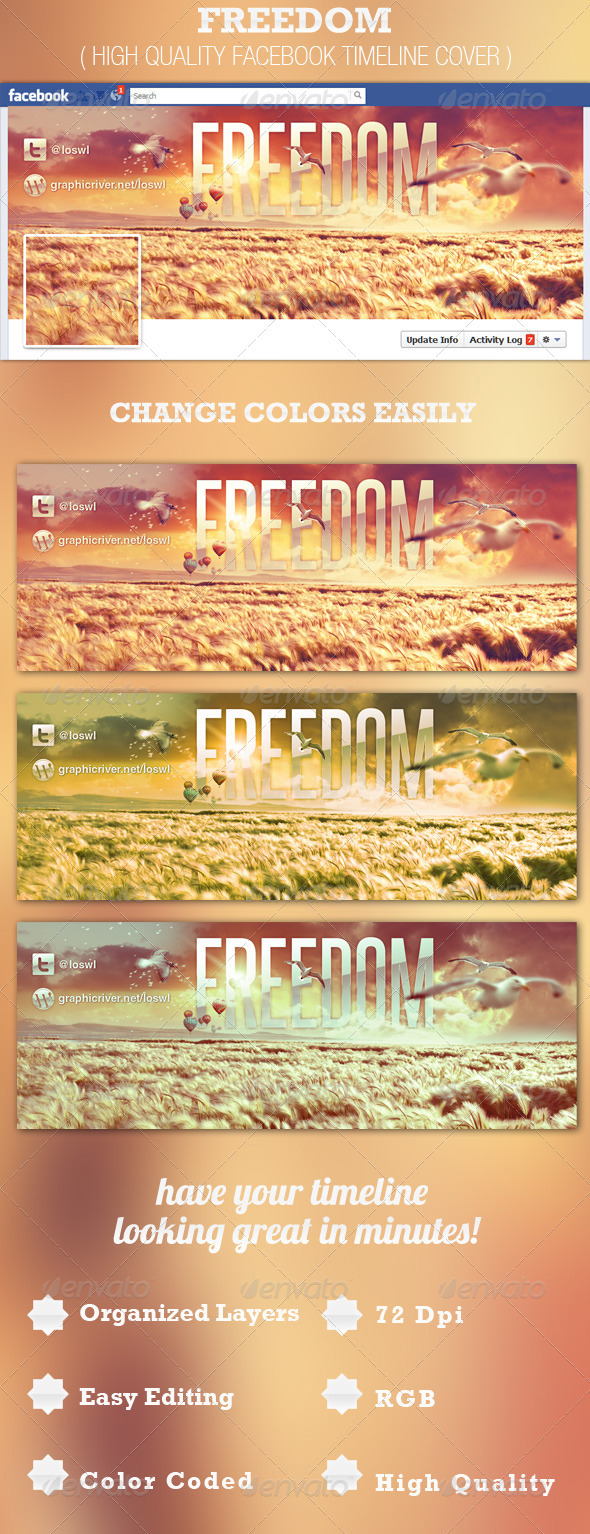 Freedom Facebook Timeline Cover Template - Facebook Timeline Covers Social Media