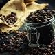 Grains of roasted arabica coffee in a jar - PhotoDune Item for Sale